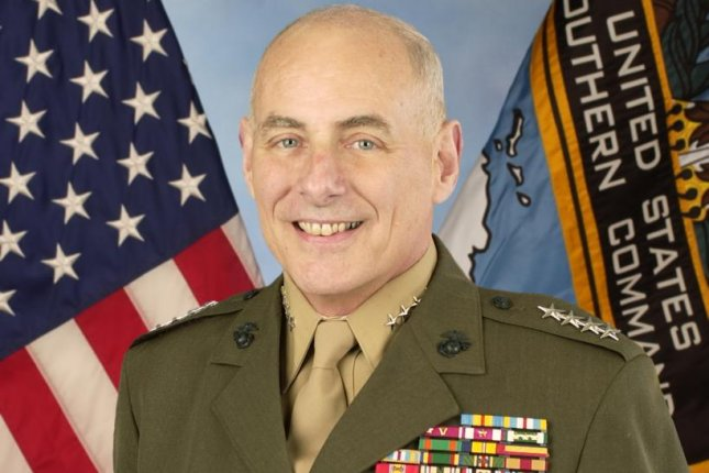 Retired four-star Marine Gen. John F. Kelly is President-elect Donald Trump's choice to lead the Department of Homeland Security, people familiar with the decision said. In February, he retired as commander of the U.S. Southern Command. File Photo courtesy U.S. Department of Defense