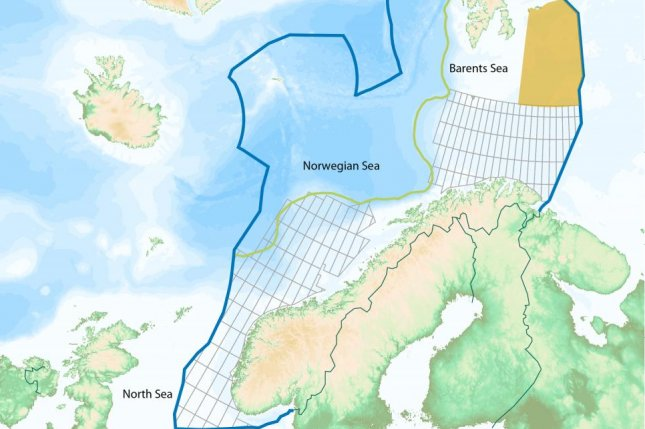 Norway at least doubles Barents Sea reserve estimate - UPI.com on map of marginal seas, map of l'anse aux meadows, map of humboldt current, map of the arctic ocean, map of gulf of mexico, map of kiev, map of gulf of aden, map of bergen, map of narvik, map of upper peninsula of michigan, map of oslo, map of norway, map of arctic circle, map of strait of malacca, map of gulf of venezuela, map of dardanelles, map of fernando de noronha, map of bay of biscay, map of persian gulf, map of english channel,