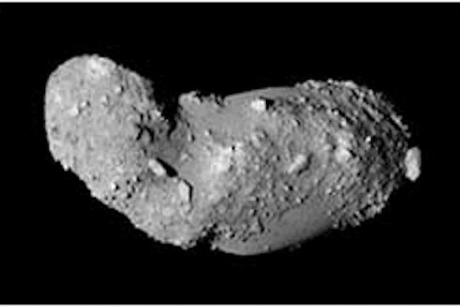 Scientists analyzed mineral grains collected from the asteroid Itokawa. Photo by JAXA