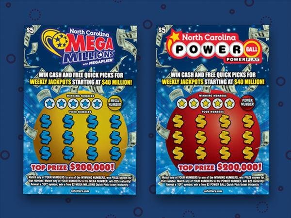 A North Carolina man's wife prevented him from accidentally throwing away a winning lottery ticket worth $200,000. Image courtesy North Carolina Lottery