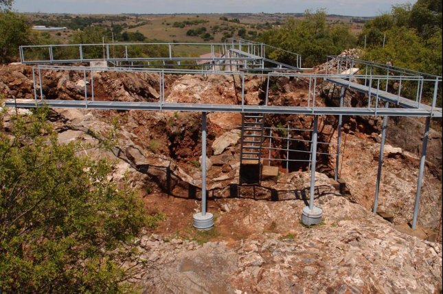Ancient hominin bones found at the Sterkfontein Cave site in South Africa suggest some early humans were still regularly climbing trees as many as 2 million years ago. Photo by University of Kent