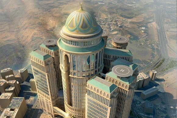 The Abraj Kudai hotel, scheduled to open in 2017, will become the world's largest hotel -- with 10,000 rooms, 12 towers, four helicopter pads, 70 restaurants and a host of other amenities, developers said. Photo: Dar Al-Handasah (Shair and Partners)