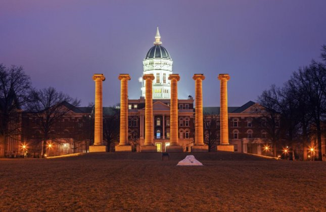 The University of Missouri announced Wednesday it has suspended the Delta Upsilon fraternity on campus for allegedly yelling racist and sexist slurs at black students in front of the fraternity house Tuesday night. Photo Henryk Sadura/Shutterstock