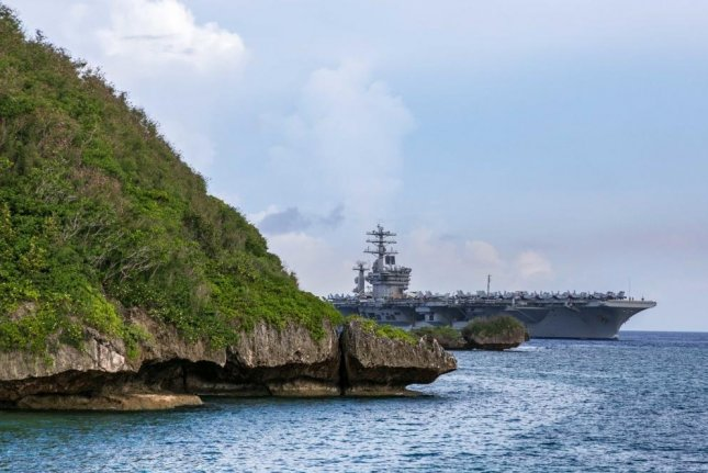 The Carrier Strike Group led by the aircraft carrier USS Nimitz arrived at Naval Base Guam on Wednesday for a Safe Haven Liberty port visit. Photo by MCS Matthew White/U.S. Navy