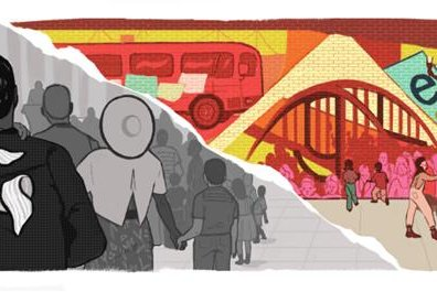 Image of Google's new Doodle honoring Martin Luther King Jr. on Monday. Photo courtesy of Google