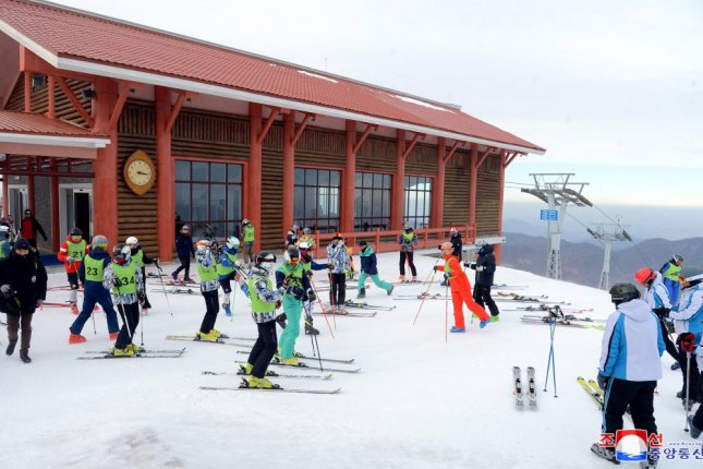 North Korea's Masikryong Ski Resort began operating this season on Wednesday, according to a South Korean press report. File Photo by KCNA/EPA-EFE