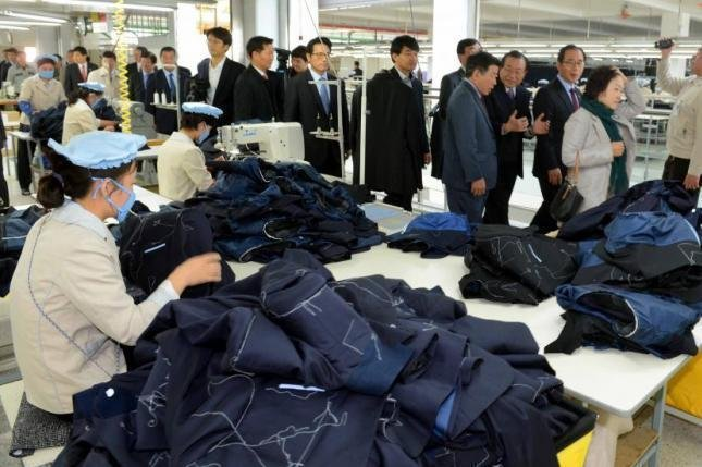 Productivity at the Kaesong Industrial Complex in North Korea has soared dramatically despite the wage dispute. In a new deal reached Monday, workers are to receive benefits as well as a 5 percent increase in their salaries. File photo by Yonhap