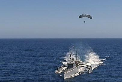 The Navy will receive the two Large Unmanned Surface Vessels it requested in the 2020 defense appropriations bill. Photo courtesy of U,S. Defense Advanced Research Agency