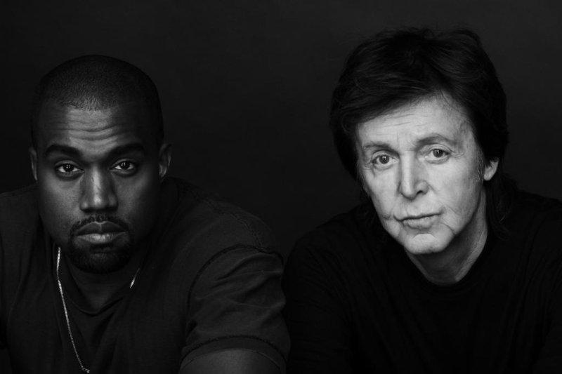 Photo of Kanye West and Paul McCartney by Inez and Vinoodh. Photo courtesy Def Jam Recordings