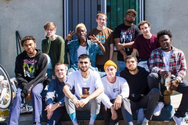 BrockHampton, founded by Kevin Abstract of Corpus Christi, Texas, in 2015, the Los Angels-based boy band consists of singers, rappers and producers. They met on a Kanye West fan forum. Photo courtesy of RCA Records