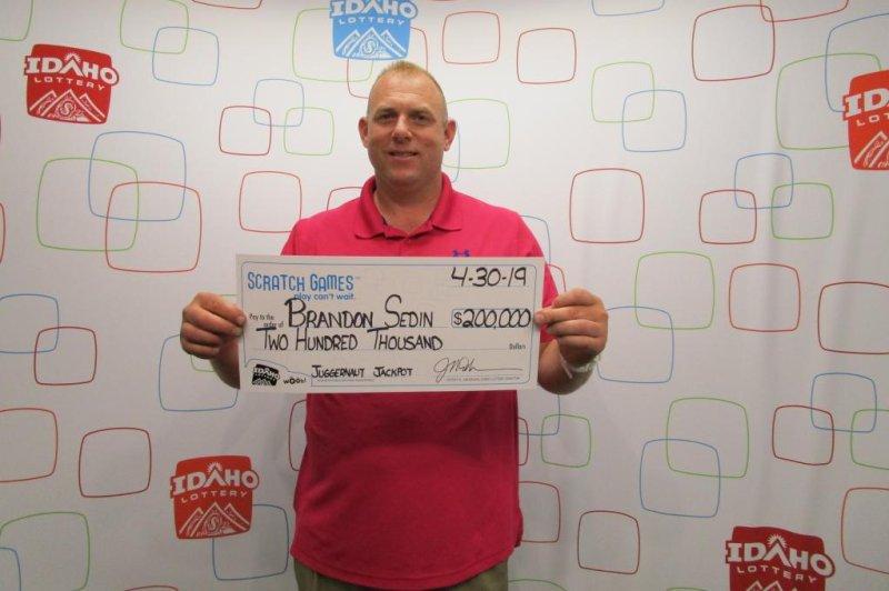 An Idaho man said stopping to give a few dollars to a homeless man earned him the good karma to win a $200,000 lottery jackpot. Photo courtesy of the Idaho Lottery