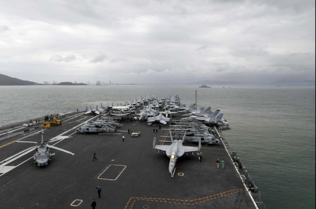 The USS Theodore Roosevelt arrives in Vietnam Thursday. Photo by Dylan Lavin/U.S. Navy