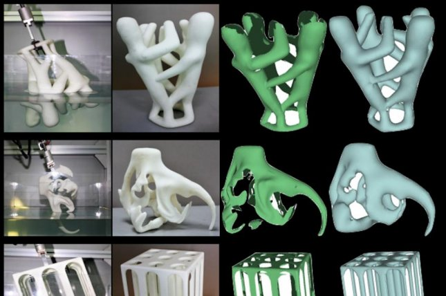 Researchers developed a new method for producing 3D scans by measuring the volume displacement of objects dipped in water. Photo by ACM SIGGRAPH 2017