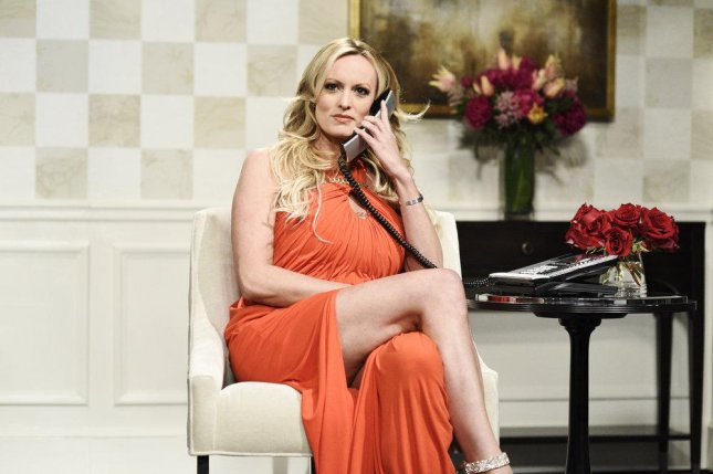 Stormy Daniels appeared on Saturday Night Live on May 5. Photo by Will Heath/NBC
