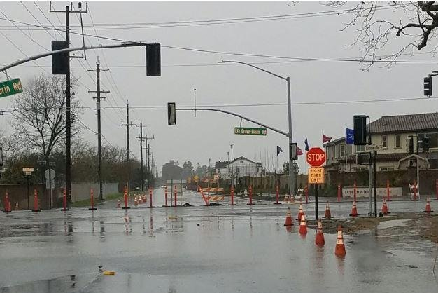About 2,000 people were urged to evacuate form their homes in Wilton in Northern California because Cosumnes River threatened to burst its banks Wednesday. Photo courtesy Sacramento County/Twitter