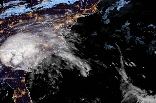 Hurricane Sally is seen off the Gulf of Mexico early Tuesday. The storm is expected to make landfall on the U.S. coast later Tuesday or early Wednesday. Image courtesy of NOAA/NHC