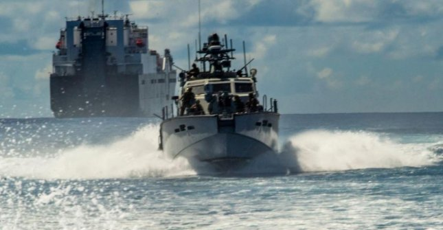 A $125 military aid package to Ukraine, announced by the Pentagon on Monday, includes two Mark VI patrol boats, pictured. Photo by MCA1 John Wagner/U.S. Navy