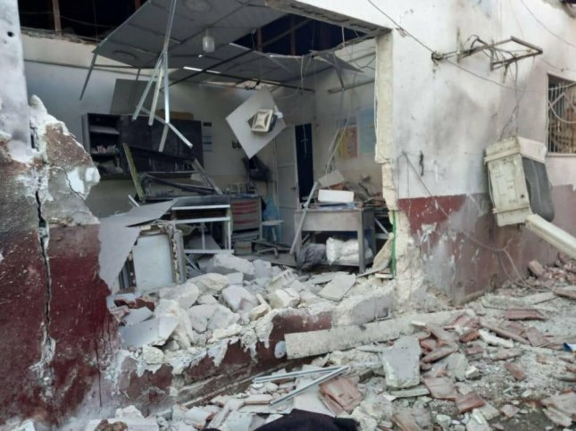 The Syrian American Medical Society said one of the hospitals it supports in Syria's Afrin city was hit with two missiles on Saturday, killing at least 13 people.Photo courtesy of Syrian American Medical Society/Website