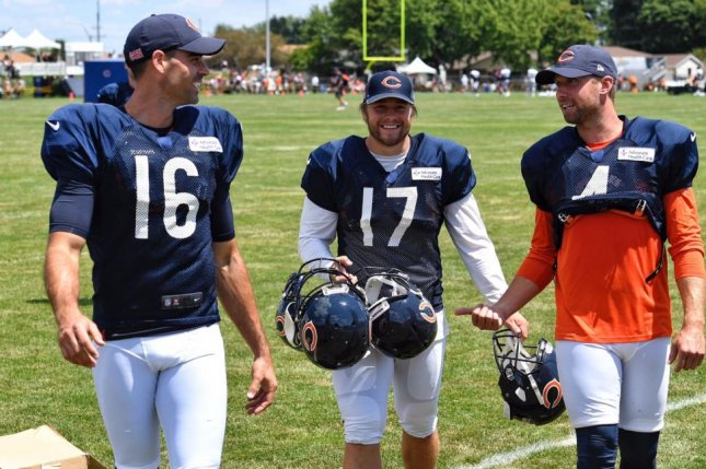 Chicago Bears kicker Andy Phillips (17) was waived by the franchise on Monday. Photo courtesy of the Chicago Bears/Twitter