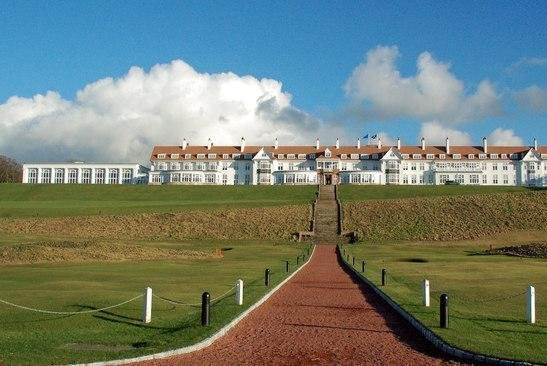 The Air Force said the aircrew that stayed at a Trump hotel in Scotland earlier this year did not break protocol.  Photo by Mary and Angus Hogg/Trump Turnberry Hotel/Wikimedia Commons