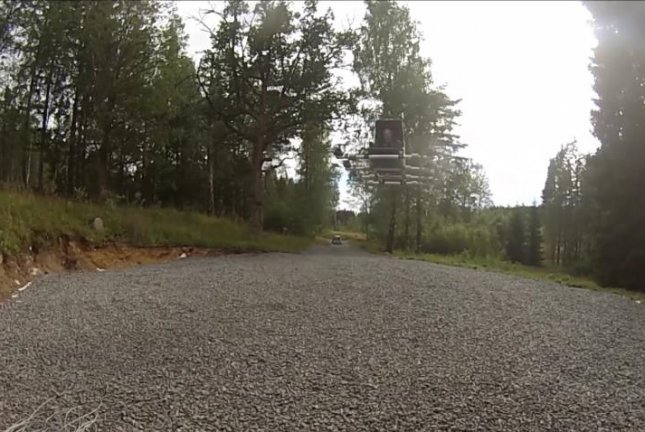 A Swedish engineer takes flight in his homemade multicopter aircraft. Screenshot: Storyful