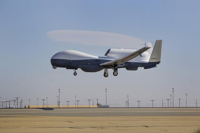 The MQ-4C maritime patrol unmanned aerial vehicle, for which Northrop Grumman has been awarded a contract to provide a variety of support services. Photo by Alex Evers/US Navy