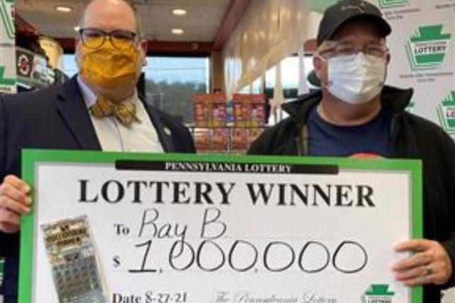 Ray Boose Jr., of Cumberland County, Pa., won a $1 million jackpot from a scratch-off lottery ticket just months after winning a $100,000 prize from another ticket. Photo courtesy of the Pennsylvania Lottery