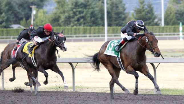 Stopshoppingdebbie remains undefeated in winning Saturday's Washington Oaks at Emerald Downs. (Emerald Downs photo)