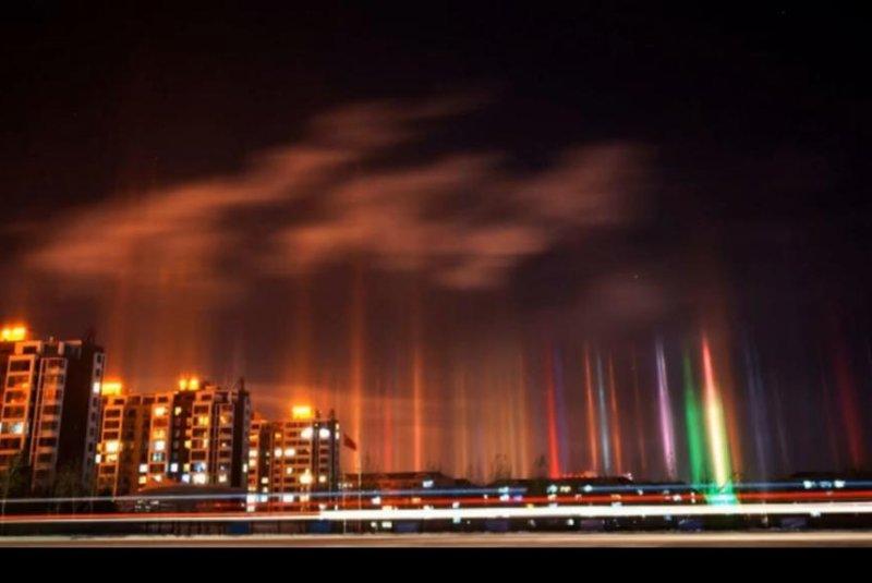 Watch Columns Of Light Rise In Inner Mongolia Upi