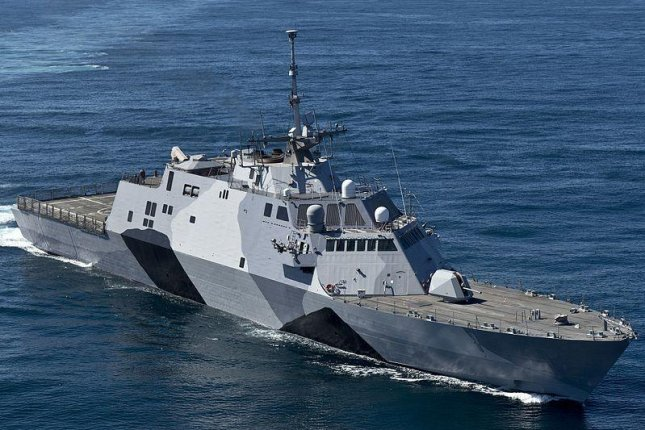 The first of Class USS Freedom Littoral Combat Ship. U.S. Navy photo by Mass Communication Specialist 1st Class James R. Evans