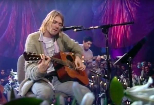 Kurt Cobain performs on MTV Unplugged. YouTube screenshot