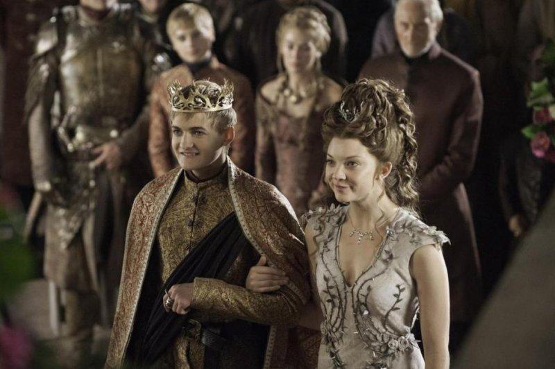 King Joffrey (Jack Gleeson) and Margaery Tyrell (Natalie Dormer) get married on HBO's Game of Thrones. (HBO/Helen Sloan)