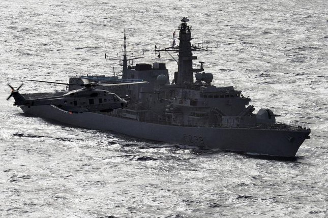 The U.K. Royal Navy's type 23 frigate HMS Richmond now has powers to search, detain, and seize suspected smugglers. Photo: L(Phot) Gaz Weatherston/MOD