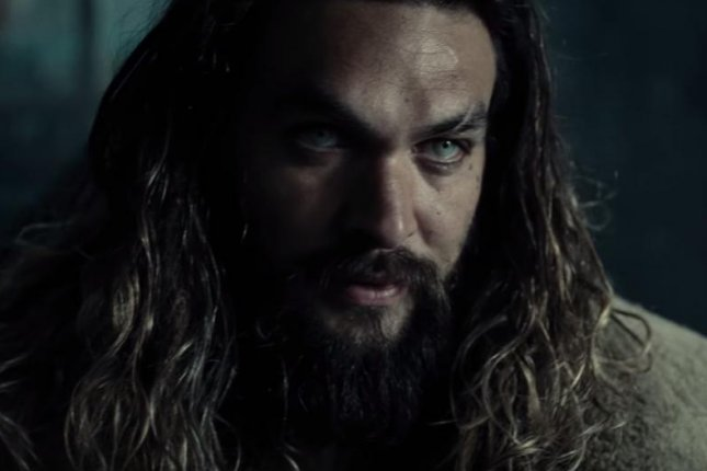 Jason Momoa as Aquaman in the first trailer for Warner Bros. and DC Comics upcoming ensemble film, Justice League. Momoa's solo cinematic adventure as The King of the Seven Seas will be scripted by Gangster Squad writer Will Beall. Photo courtesy of Warner Bros./Youtube