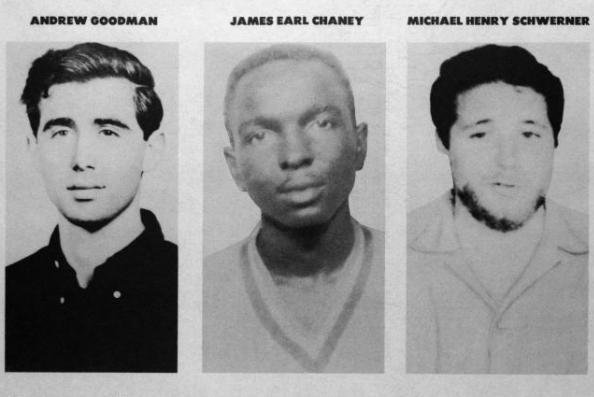 Missing persons poster released by the FBI asking for information into the disappearance of three civil rights workers: Andrew Goodman, James Earl Chaney and Michael Henry Schwerner, in June 1964. Their bodies were discovered on August 4, 1964. Photo courtesy of FBI