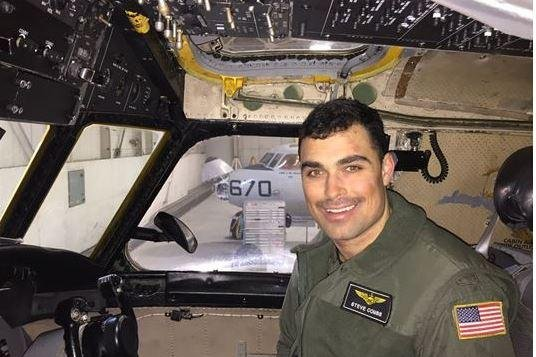 "Lt. Steven Combs, a native of Florida assigned to the ""Providers"" of Fleet Logistics Support Squadron, is among the missing. Photo courtesy of U.S. Navy ."