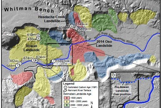 A New Map Ilrates The Chronological History Of Landslides Near Oso Washington Photo By The University Of Washington