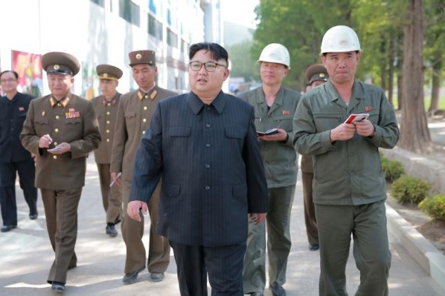 North Korea's Kim Jong Un deploys tens of thousands of forced laborers overseas, but some of the workers are being repatriated, according to South Korea. File Photo by Rodong Sinmun