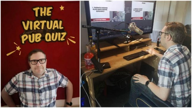 The host of Britain's Virtual Pub Quiz was awarded a Guinness World Record when 182,513 households logged in to play along on YouTube. Photo courtesy of Guinness World Records