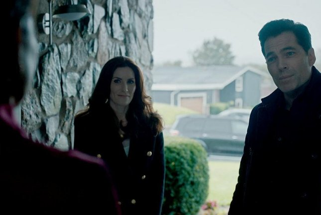 Sarah Levy (L) and Tim Rozon star in SurrealEstate, which debuts on Friday. Photo courtesy of Syfy
