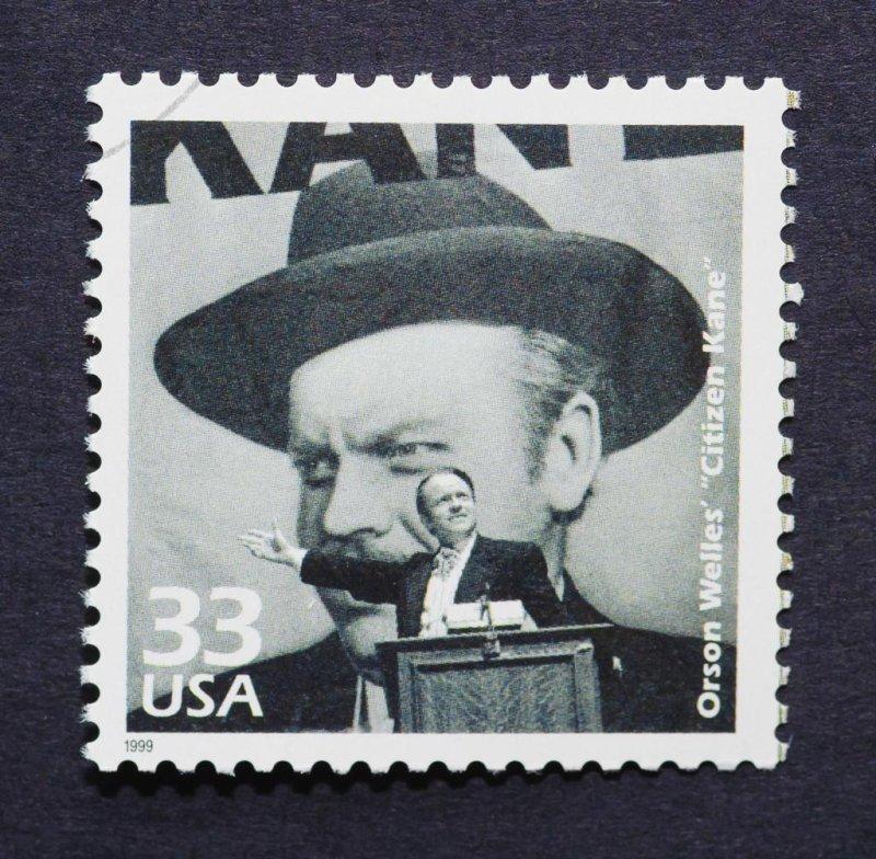Image of 1999 stamp celebrating the film Citizen Kane. Shutterstock
