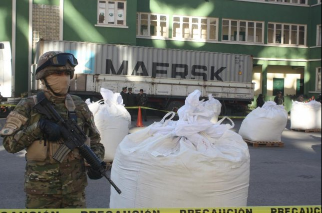 Bolivia's Special Force to Combat Drug Trafficking arrested three men and seized more than 7 tons of cocaine officials believe was destined for the United States. Photo courtesy of Bolivian Ministry of Government