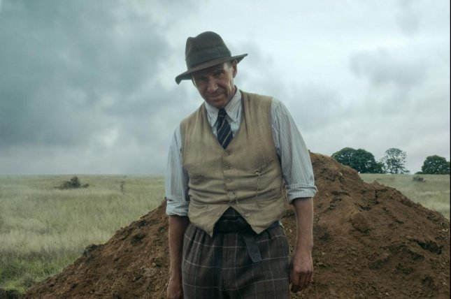 Ralph Fiennes portrays Basil Brown's excavation of the Sutton Hoo estate in The Dig. Photo courtesy of Netflix