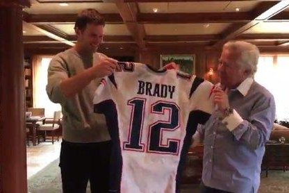 big sale 71bab cd3b1 Going for two: Tom Brady has returned Super Bowl jerseys ...