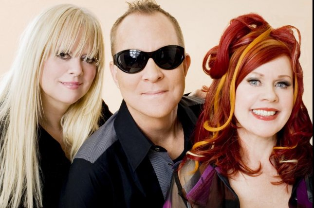 Kate Pierson (R), pictured with B-52s band mates Cindy Wilson and Fred Schneider, said the band has managed to stay together through 40 years by remaining close friends. Photo courtesy of Pieter M. Van Hattem