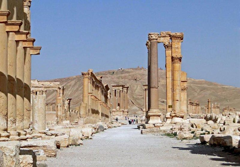 Part of the ancient ruins at Palmyra, Syria (CC/ wikimedia.org/ B. Gagnon)