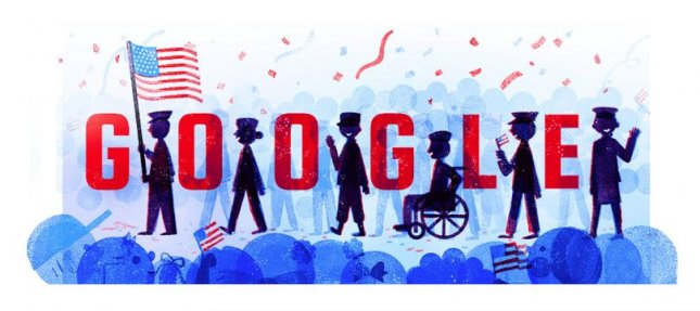 Google is celebrating Veterans Day with a new Doodle designed by veteran Diana Tran. Photo courtesy of Google