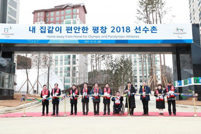 South Korea's Pyeongchang Olympic Committee holds a ribbon-cutting ceremony commemorating the completion of athletes' villages on Friday. Photo courtesy of Pyeongchang 2018 Olympic Committee