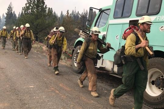 The fire, located in the Fremont-Winema National Forest in southern Oregon, has so far blackened more than 600 square miles.Photo courtesy Lake County Sheriff's Office/INCIWEB/UPI
