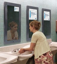 Bathroom Mirrors Chicago ads coming to airport's bathroom mirrors - upi
